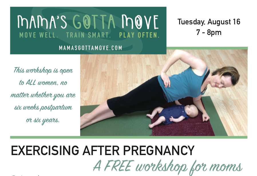 Free Workshop: Exercising after pregnancy